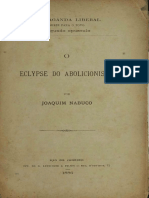 NABUCO, Joaquim. O Eclipce Abolicionista