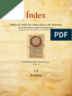A Index, índices de las obras