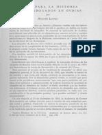 Levene, Notas para la historia de los abogados en Indias, 1959