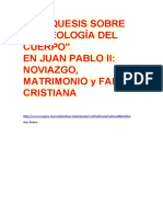 Catequesis j.p.ii Teología Cuerpo