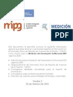 Instrucciones y Cronograma Mdi Reporte Furag Vigencia 2020 a Publicar