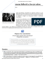Carlos Saúl Menem falleció a los 90 años