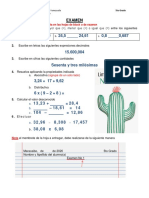 EVALUATIVO MATEMATICAS 5TO GRADO