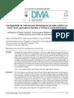 Art. Ambiguidade de Referenciais Tecnológicos Da Ação Pública No Meio Rural - Agricultura Familiar e Limites à Sustentabilidade - 2016
