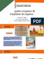Principales cirujanos de trasplante de órganos