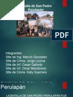 Presentacion de La Batalla de San Pedro de Perulapan