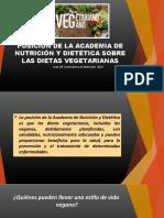 POSICIÓN DE LA ACADEMIA DE NUTRICIÓN Y DIETÉTICA SOBRE LAS DIETAS VEGETARIANAS- VEGANAS