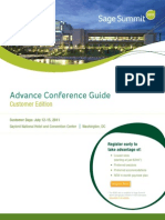 Sage Summit 2011 Customer Guide