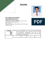 Resume Of Md.Tajmilur Rahman