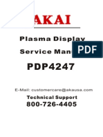 AKAI PDP4247-F Service manual
