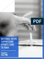 Report - National Voter Suppression Efforts Come to Iowa