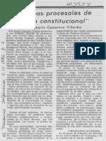 Reseña normas procesales de rango constitucional. Casarino - Leónida