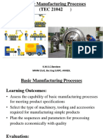 Basic Manufacturing Processes