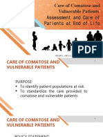 Care of Comatose and Vulnerable Patients