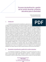 Procesos de planificación y gestión de centros educativos