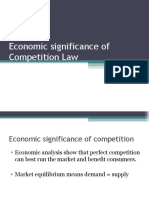 Economic significance of Competition Law