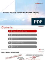 Huawei Network Security Solution Pre-sales