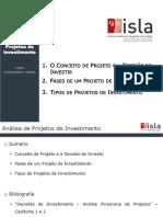 Introdução à Análise de Projetos de Investimento