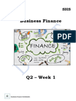 Finance Week 1 Q2