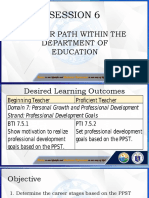 Career Path within the Department of Education