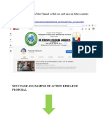 FREE SAMPLE OF AN ACTION RESEARCH PROPOSAL