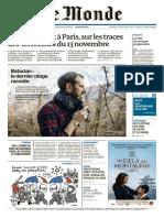 Le Monde Du Jeudi 31 Décembre 2015
