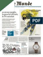 Le Monde Du Vendredi 25 Décembre 2015