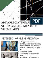 ART APRECIATION ART STUDY AND ELEMENTS OF VISUAL ARTS