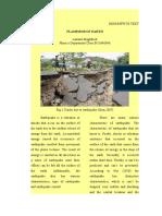 Essay Descriptive Earthquake