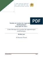 Cadre Théorique de La Gestion Des Apprentissages Mathématiques