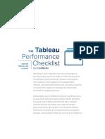 InterWorks Tableau Performance Checklist