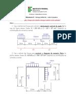 Lista de exercicios I - TE II metodo das forças