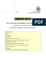 2. 1st Announcement of the AMFUF 2017