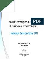 Les Outils Techniques d2019evaluation Du Traitement d2019hemodialyse Mme Casas 2011 Web