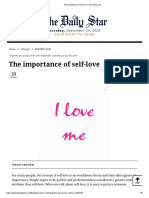 The Importance of Self-love _ the Daily Star