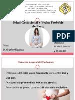 Edad Gestacional y FPP