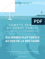 Compte rendu du débat public sur le projet d'éoliennes flottantes au sud de la Bretagne