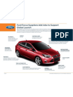 Ford Focus Suppliers Add Jobs to Support Global Launch
