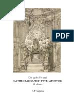 CATHEDRAE SANCTI PETRI APOSTOLI. Die 22 de februarii.  Ad Vesperas