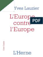 L'Europe contre l'Europe - Général Jean-Yves Lauzier