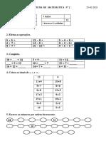 Ficha de Matemática Nº2