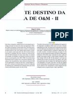 O TRISTE DESTINO DA ÁREA DE O&M - II (Miguel P Caldas), RAE EAESP-FGV