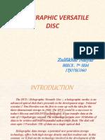 holographic versatile disk (hvd)