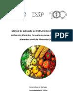 Manual de aplicação de instrumento de auditoria do ambiente alimentar baseado na nova classificação de alimentos do Guia Alimentar (1)