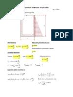 Mathcad - Elementos Mecanicos en Muros