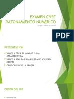 EXAMEN CNSC RAZONAMIENTO NUMERICO