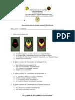 EXAMEN LINEA DE MANDO, GRADOS Y DISTINTIVOS 1