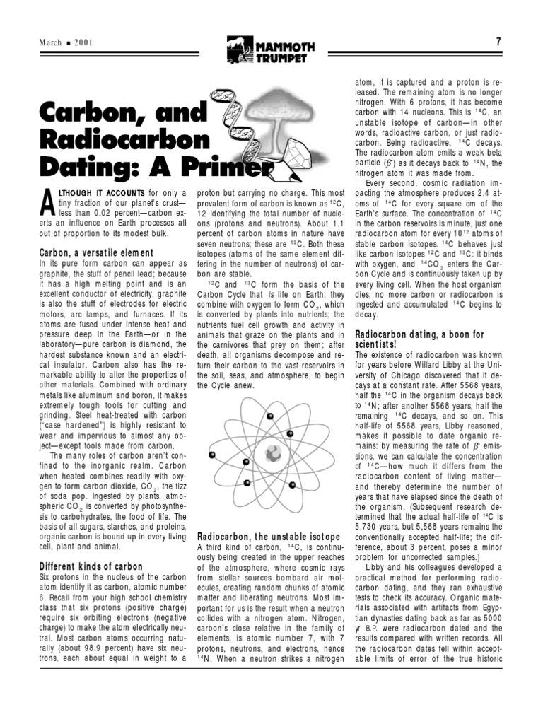 Radiocarbon dating worksheets
