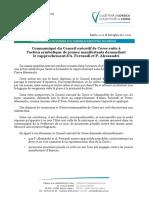 Action Symbolique Rapprochement A. Ferrandi P. Alessandri
