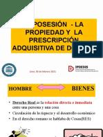 Posesion Propiedad y Prescripcion Adquisitiva 05 Febrero 2021 Sesion 1